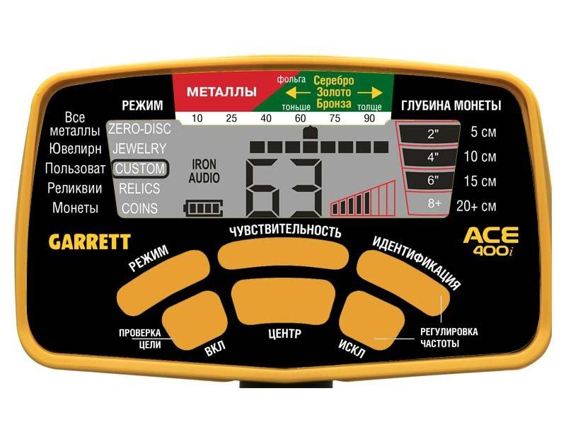 Экран металлоискателя Garrett ACE 400i
